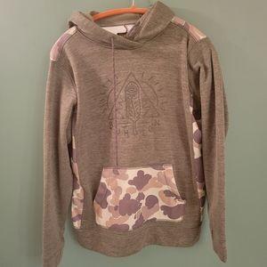 Burton camo hoodie